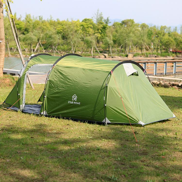 c231d5f3d1b9 Great Camping Tent Fabric Fiber Of Glass Seal 3 To 4 Person Family Tent  Tunnel Equipment