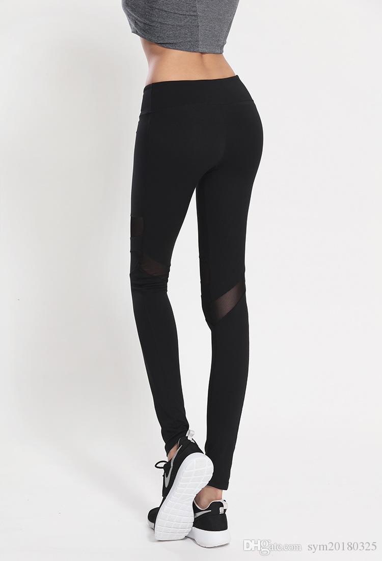 Spring and summer new women's sports fitness trousers stretch Slim hip fitness pants yoga running compression pants
