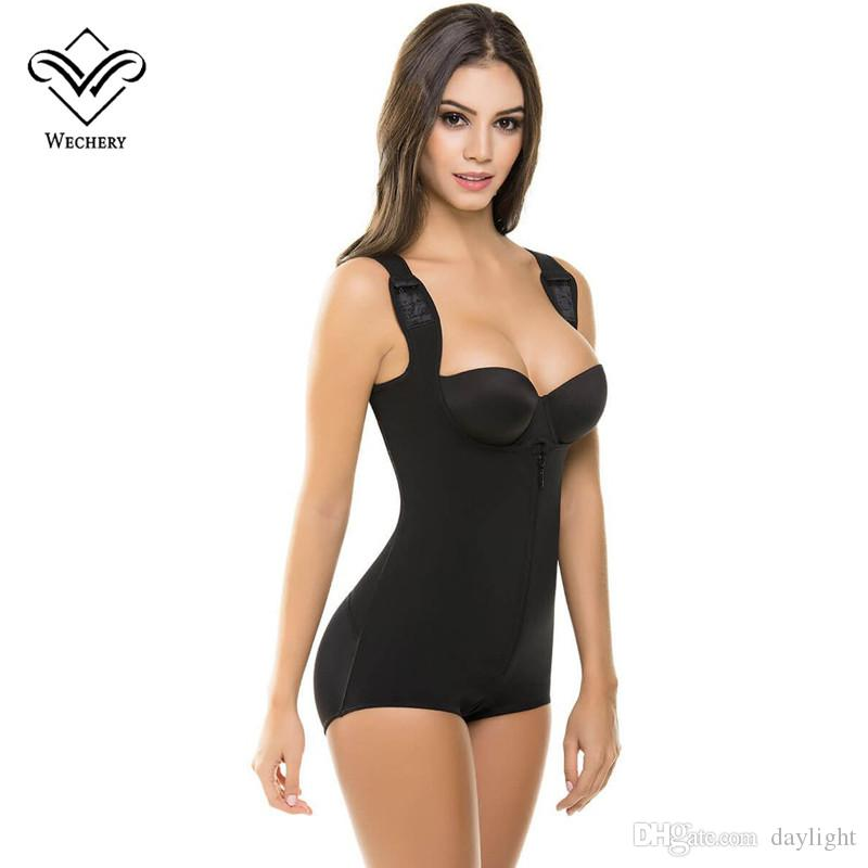 58ea616747e 2019 Wechery Waist Trainer Body Shaper Bodysuit Women Control Pants Butt  Lifter Push Up Shapewear Corset Slimming Underwear Black 3XL From Daylight