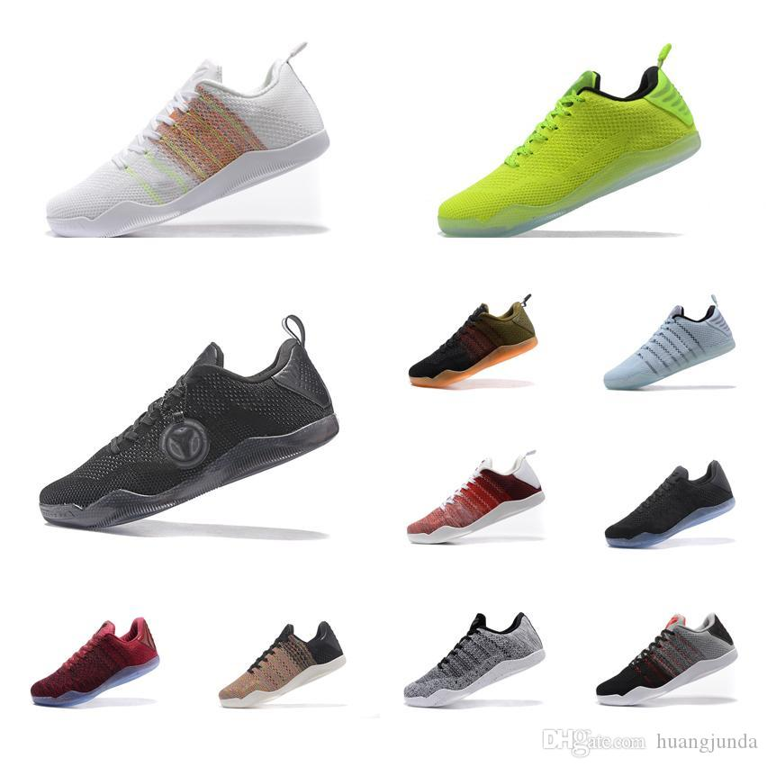 online store a04be daec6 2019 Cheap Men Kobe 11 XI Elite Low Basketball Shoes 4KB White Gold Black  Red Horse Christmas Easter FTB Grey KB Sneakers Boots For Sale With Box  From ...