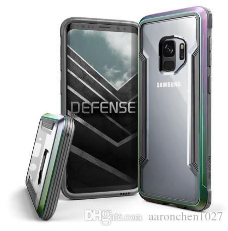 competitive price 593aa df6bb X-Doria Defense Shield Case For Samsung Galaxy S9 S9 Plus Note 9 Cover  Military Grade Drop Aluminum Phone Case For iPhone 6 6S 7 8 X XS Max