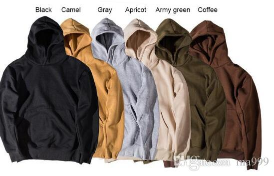 Men's Hoodie Sweatshirt Women Men Hip Hop Streetwear Oversized Plain Pullover Hoodies Cool Winter Hooded Sweatshirt Jacket Coat SHG1102