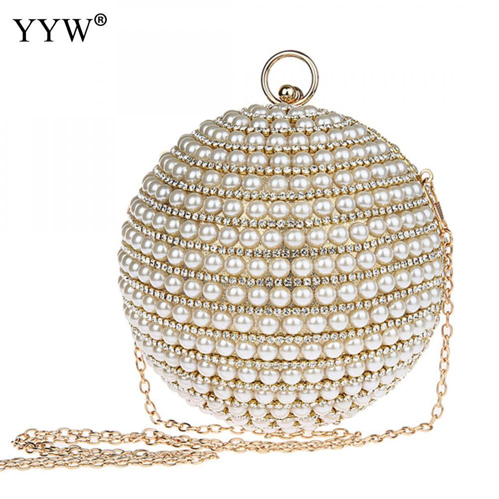 Fashion Design Hand Made Luxury Pearl Clutch Bags With Rhinestone Women  Round Handbag Ladies Party Purse Paisley Style Clutch Purse Cheap Designer  Handbags ...
