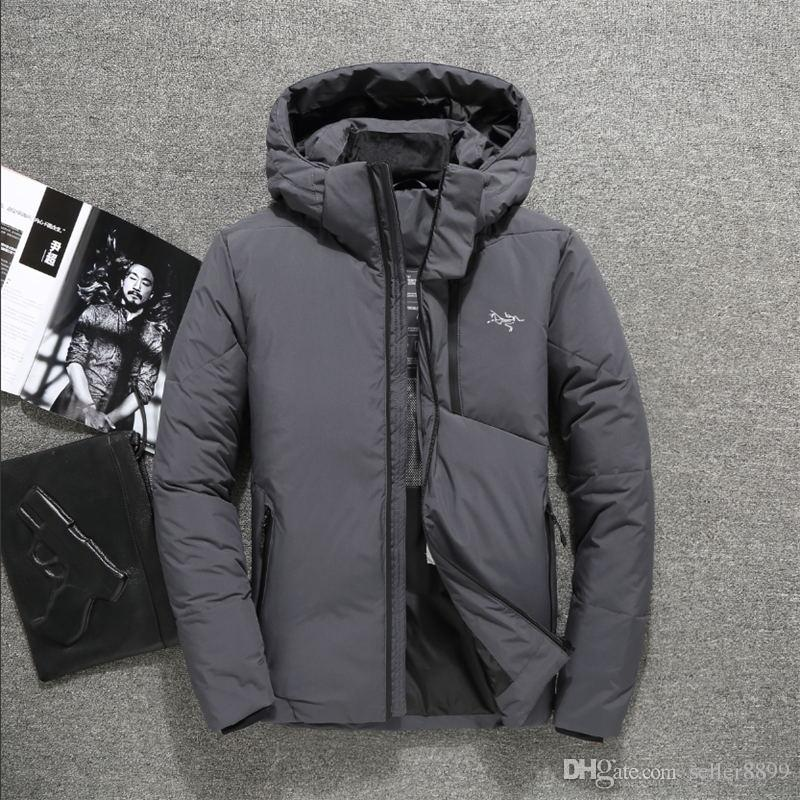 cd31bf1e3 fashion brand Men Casual Down Jacket man Down Coats Mens Outdoor Fur Collar  Warm Feather dress Winter Coat outwear jackets