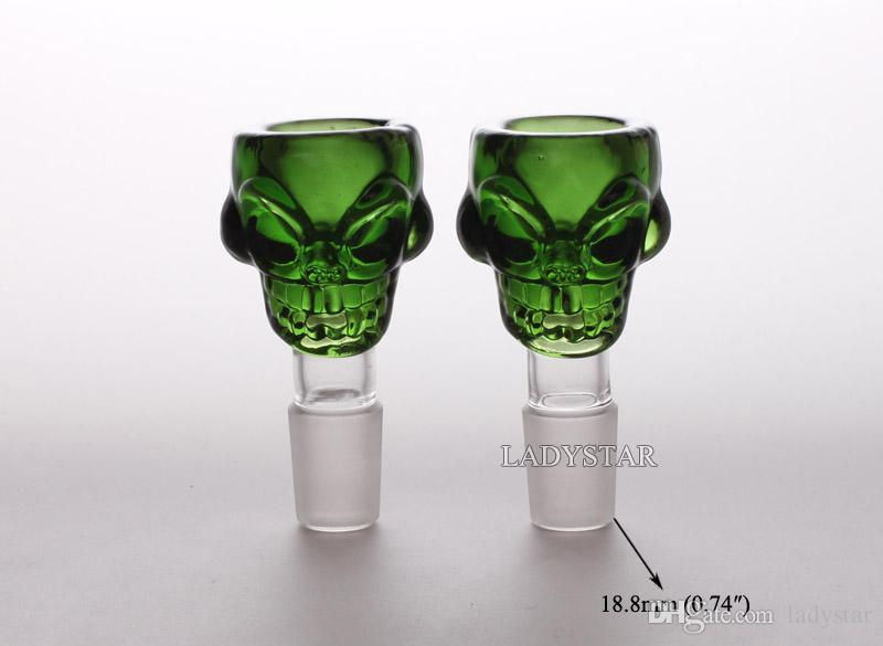 Hot sale High quality New Bong Bowl skull Bowls For Bongs Glass Bowl 18mm Glass Bowl Bongs Accessories Glass Bong Beaker L203
