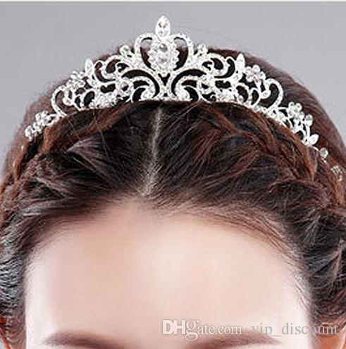 1a8869b5a1 Wedding Bride Crown Headwear Shiny Rhinestone Tiaras Head Pin Hair Ornamen  Jewelry Accessories Hairpins for Women Christmas Gift
