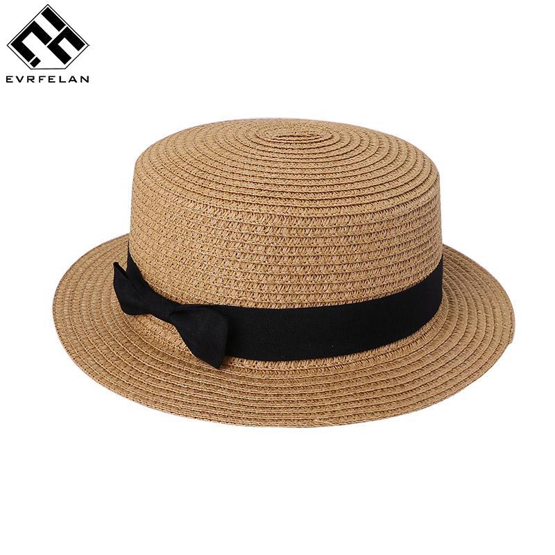 Casual High Quality Lady Straw Cap Sun Flat Hat Straw Hat Summer Cap Panama  Sun Visor Outdoor Visor Bucket Hats Bucket Hat From Heheda1 ce4b72a7090