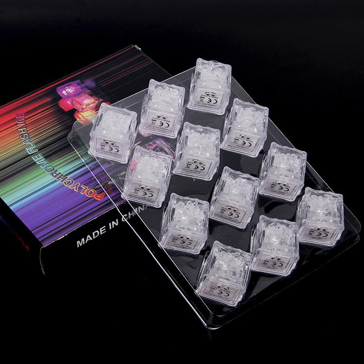 RGB flash luces de cubos de hielo Cubos de hielo lámparas Sensor de líquido de líquido Sumergible Barra de LED Encendido para Club Wedding Party Champagne Tower