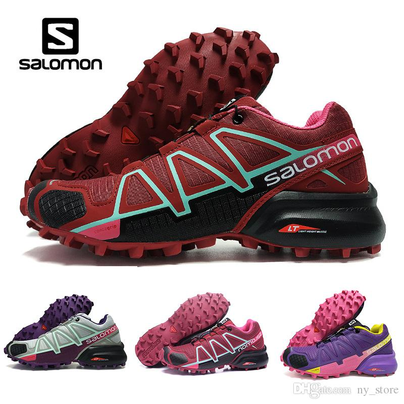 cheap sale pre order free shipping latest collections Salomon Speed Cross 4 IV CS black purple orange red bule Outdoor Shoes Breathable womens Athletics Mesh Fencing Shoes sports sneaker buy cheap from china wlrw7hfz