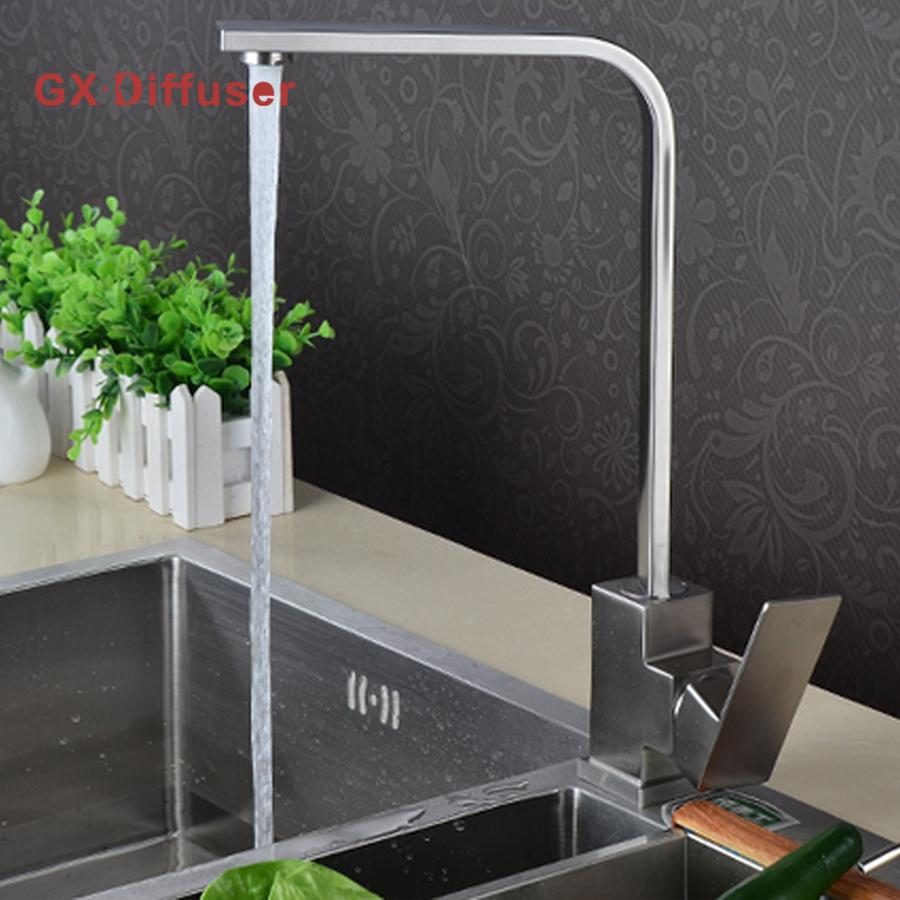 Kitchen Faucet Kitchen Hot Cold Water Mixer Pure Water Tap 304 ...