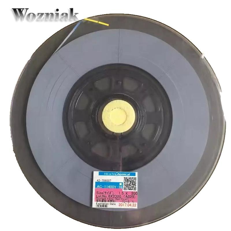 For Hitachi AC-11400Y-16 1.5mm*200m Best ACF for LCD FPC TO GLASS Conductive Strip Anisotropic Conduction Film