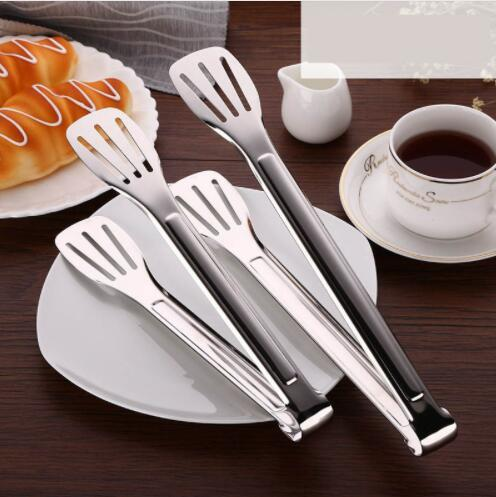 Stainless Steel Food Tongs Kitchen Utensils Buffet Cooking Tool Anti Heat Bread Clip Pastry Clamp Barbecue Kitchen Tongs Garden Supplies Home & Garden