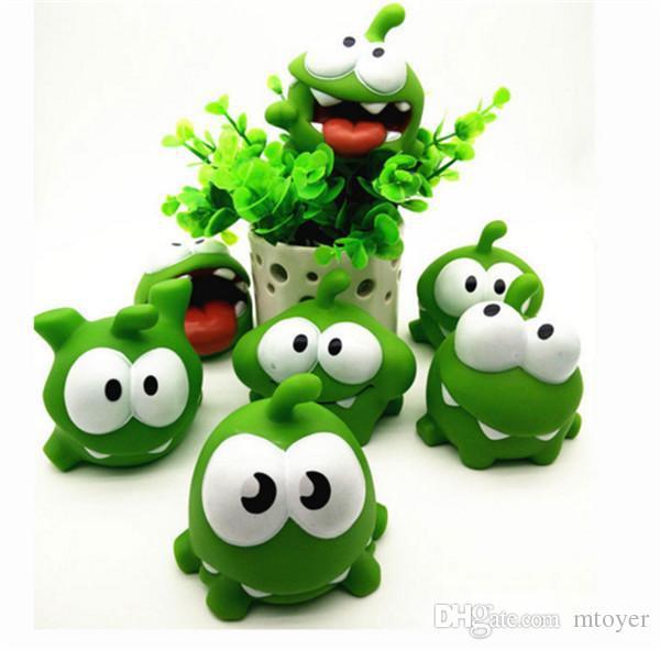 Juegos de Android Cut The Rope Frog Vinilo Cute Doll PVC Toy Birthday Christmas Gift Rana verde llamada rana de juguete