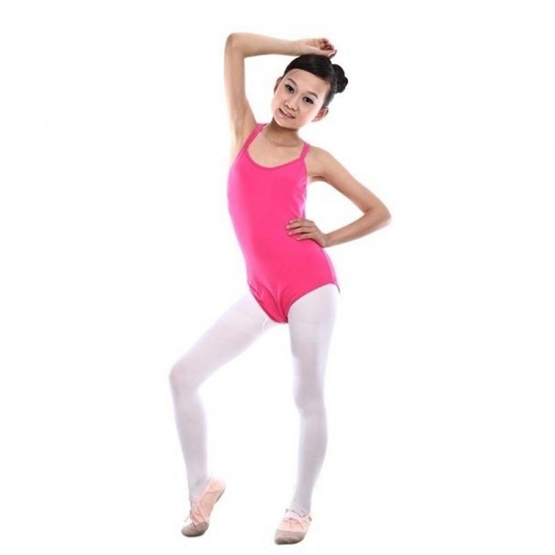 e9da107943a8 2019 Girls Double Strap Ballet Dance Leotards Kids Stretch Skate ...
