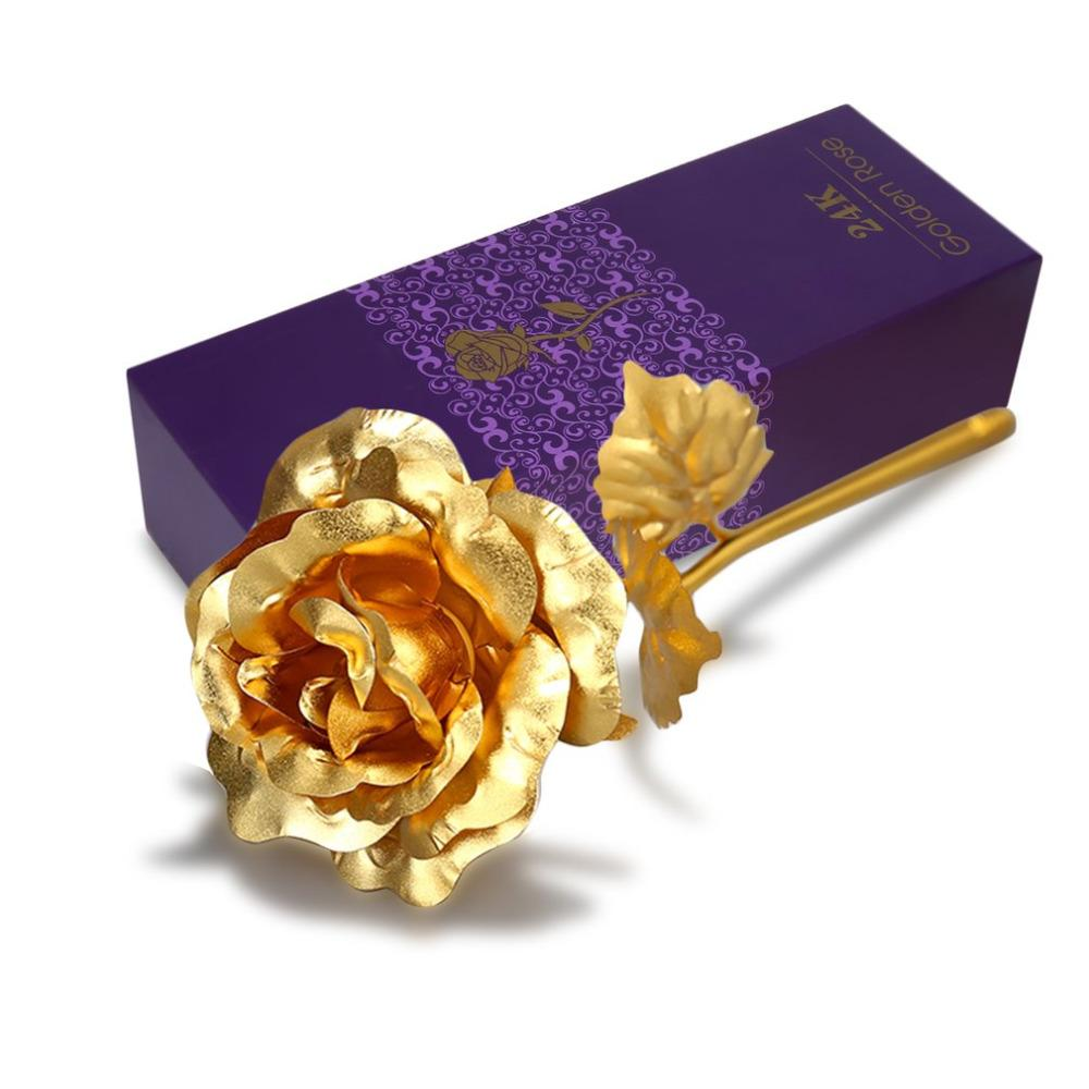 2019 Valentine S Day Gift 24k Gold Plated Golden Rose Flower Holiday