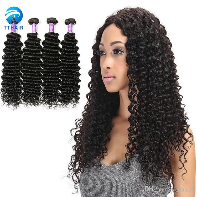 Brazilian Peruvian Indian Best Virgin Hair Extension Deep Wave