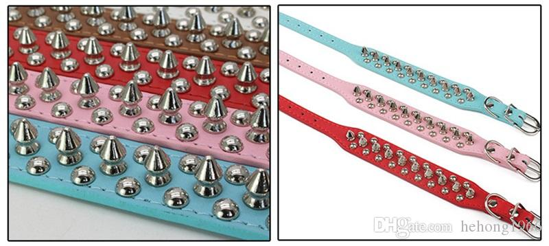 Bite Proof Metal Rivet Design Dog Collars Simulation Leather Pet Dog Rings Multi Color Size Can Choose Dogs Necklace New 9 5wn4 Z