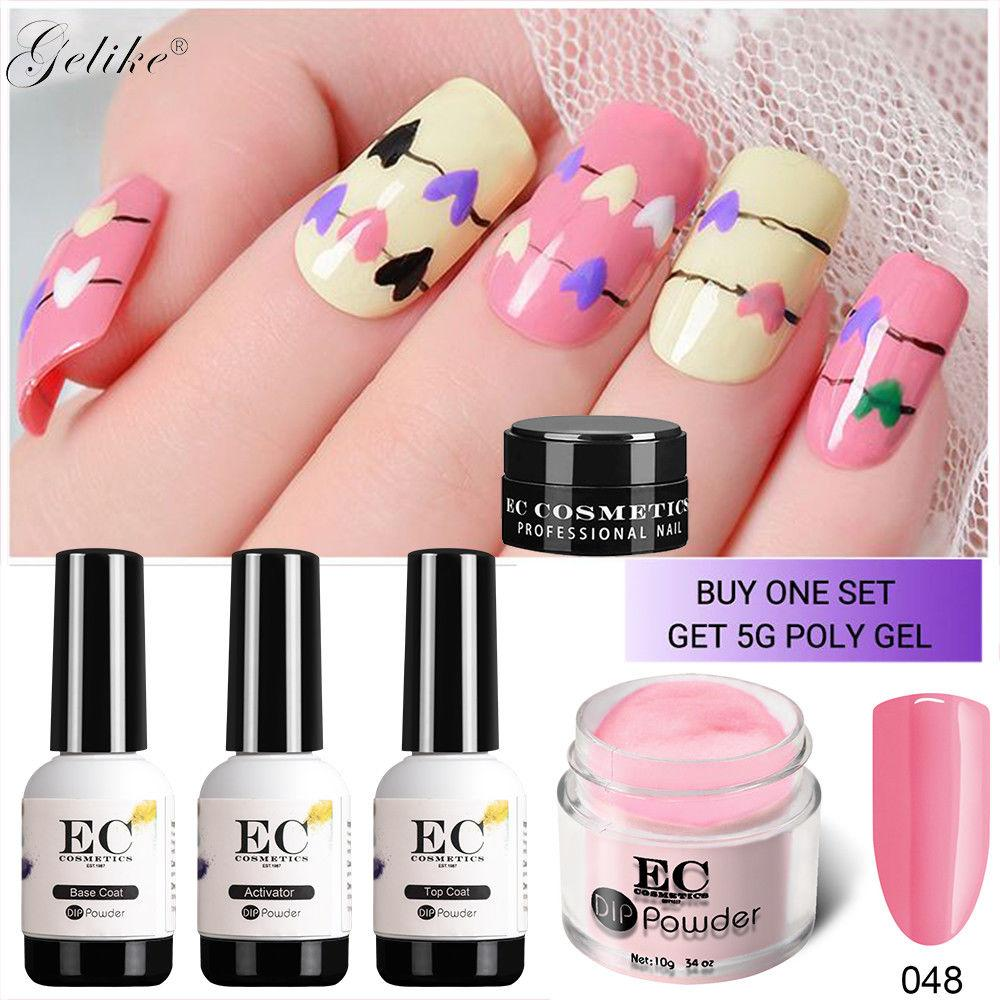 Gelike 10gDipping Powder No Lamp Cure Nails Dip Powder Clear Pink ...