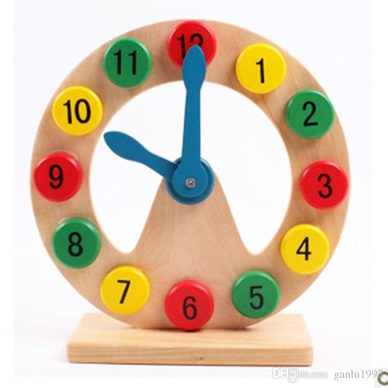 Erken Eğitim Oyuncaklar Çocuk Biliş Numarası Hollow Ahşap Yararlı Bilgelik Başlatma Çocuk Çalar Saat Modle Sıcak Satış 10 5 mz V