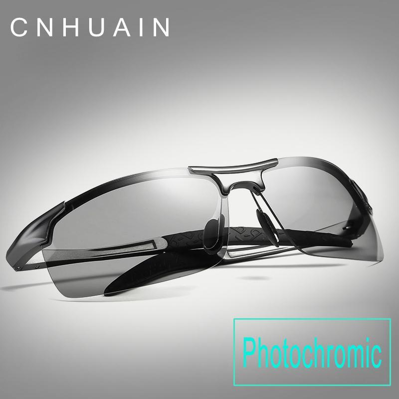Brand Sunglasses Men Polarized Driver Driving Glasses Mens Sunglasses UV400  Photochromic Lens Rimless Sun Glasses For Men 2018 D18102305 Black  Sunglasses ... 2133363b8
