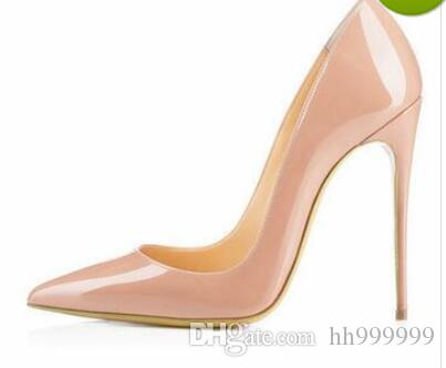57fda0096a2dc0 Brand Shoes Red Sole Woman High Heels Pumps Red High Heels 12CM ...