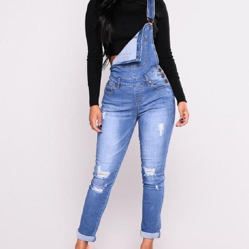 acheter en ligne 1de78 429ed Lguc.H Déchiré Débardeurs Femmes Taille Haute Stretch Jeans Combinaisons En  Jean Femme Pantalon 2018 Femme Pantalon Street Fashion S 3XL