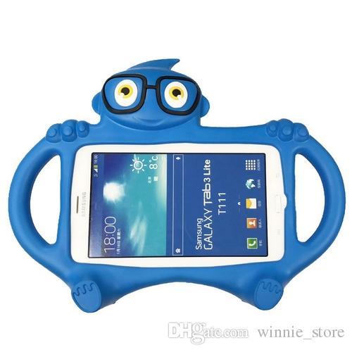 efeb792bb1 Compre Nueva Gafas Niños Case Para Samsung Galaxy Tab 3 Lite T110 T111 /  Tab4 7.0 T230 T231 Cartoon EVA Soporte De Escritorio Cubierta Titular A  $9.71 Del ...