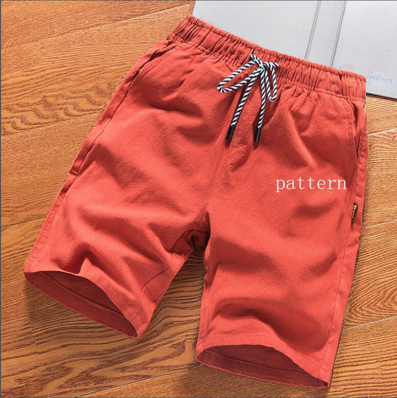 Men's Clothing Casual Shorts Men Cotton Solid Elastic Waist Striped Straight Black Red Joggers Short Sweatpants Casual Male Shorts Big Size 5xl