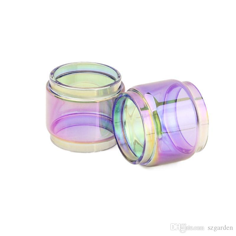 TFV12 prince glass 8ml rainbow Extended Bulb Fat Boy Pyrex Replacement Glass Tube for TFV12 Prince tank atomizer 0266182