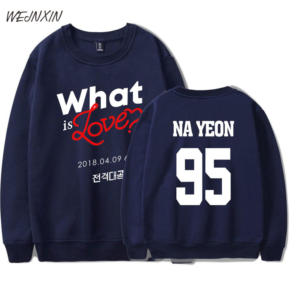97bf71a2a 2019 WEJNXIN Gray Pink K Pop Twice What Is Love Design Capless Hoodies Men  Women Fleece Warm Streetwear Pullovers Twice 95 Sweatshirt From Michalle,  ...