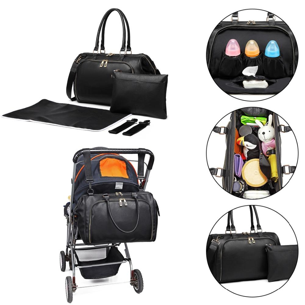 bd5b0f83b679a Miss Lulu Baby Diaper Nappy Changing Bag Nursing Clean Bags Multifunction  Mummy Maternity Leather Handbag Stroller Tote LT6863 Canada 2019 From  Serendip