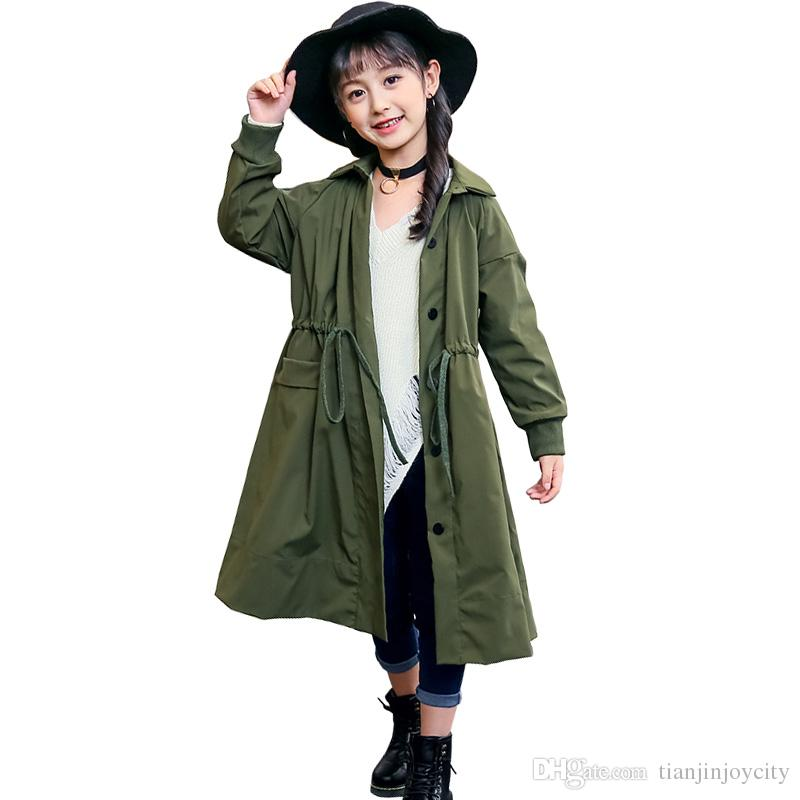 cc25b7d5fbd Womens Coats Jackets Online Missguided. 2018 Spring Autumn Trench Coat For  Girls Children Clothing Long