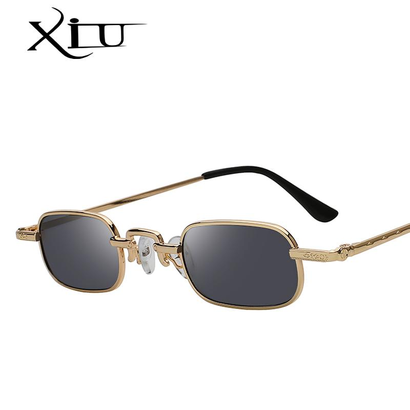 415c9bc79bbb XIU 2018 Vintage Sunglasses Women Men Rectangle Glasses Brand Designer  Small Retro Shades Yellow Pink Sunnies Sunglasses Fastrack Sunglasses Smith  ...