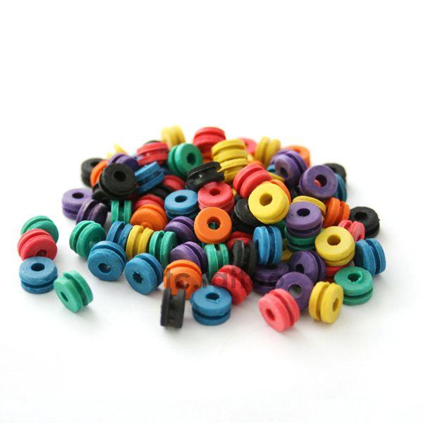 Vendita calda Accessori tatuaggio Forniture tatuaggio Gomma + O-ring A-bar Grommet Nipple Bands Spazzola la pulizia della macchina Spedizione gratuita