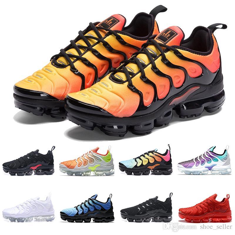 Acquista Nike Tn Vapormax Plus VENDITA CALDA 2019 Air Max Chaussures Nuovo  TN Plus VM In Oliva Metallizzata Donna Uomo Uomo Running Designer Scarpe Di  Lusso ... 70ee7a5278b