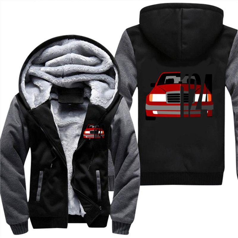 Großhandel Dropshipping Plus Größe Männer 3D Hoodies Auto Mercedes W124  Männer Swearshirt Reißverschluss Mantel Jacke Streetwear d463ffd29a