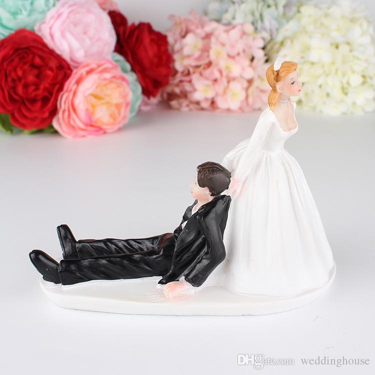 Feis 2018 Hotsale Creative Western Style Wedding Cake Wedding Couple ...