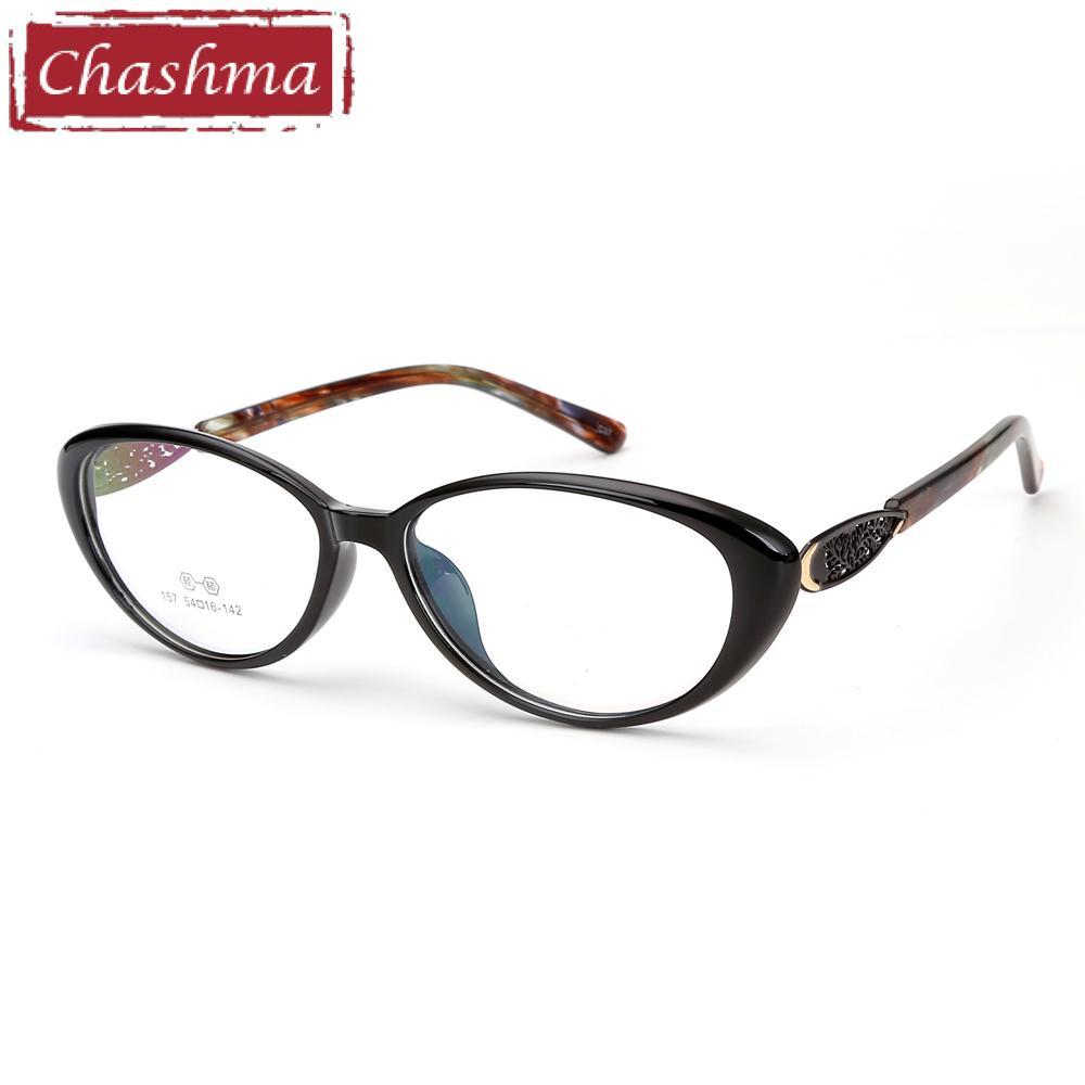 cfab1d4a2b 2019 Chashma Brand Cat Eye Glasses Frame FEmale Black Eyewear TR90 Fashion  Stylish Optical Women s Eyeglasses Frame From Gocan