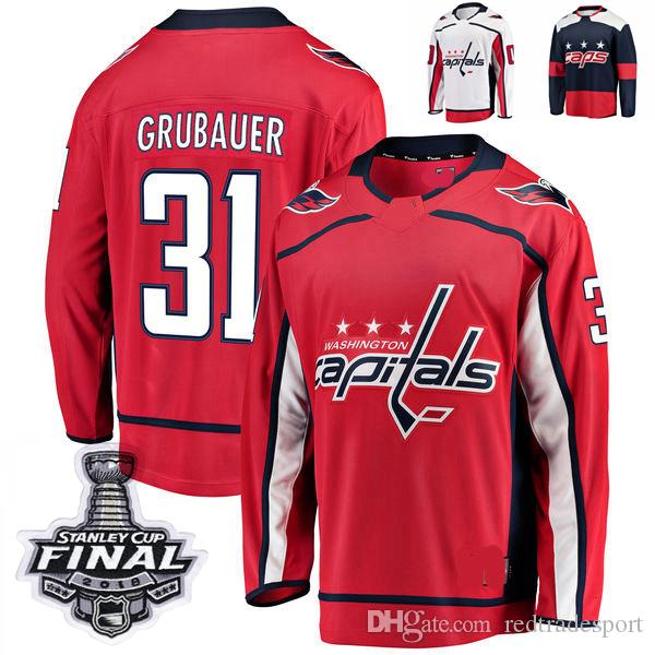 check out b268f 9e91e 2018 Stanley Cup Final Washington Capitals Stadium Series Philipp Grubauer  Hockey Jerseys 31 Philipp Grubauer Stitched Jersey Custom Jersey