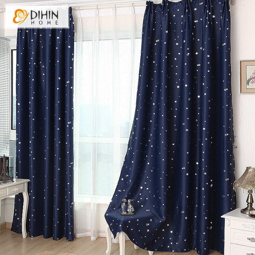 Acquista DIHIN 1 Panel Star Tende Oscuranti Camera Da Letto ...