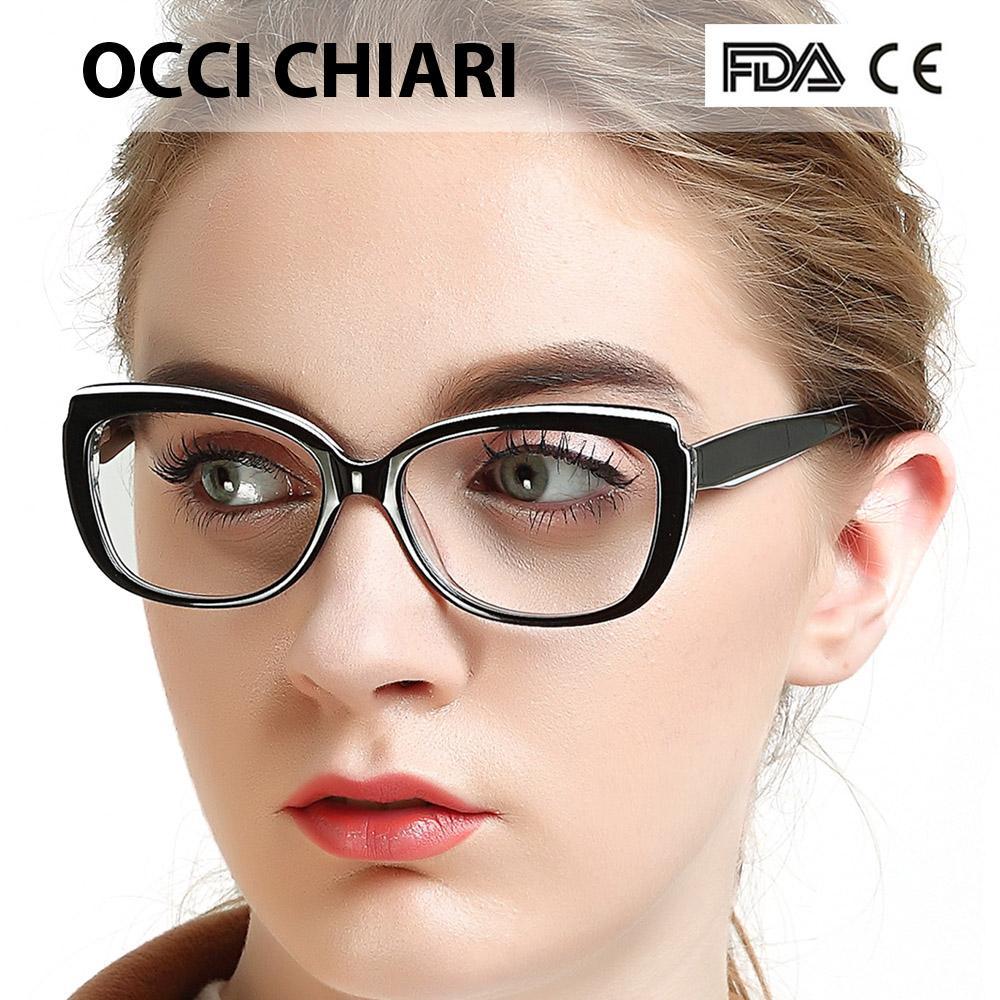 fa020e04aa Compre OCCI CHIARI Monturas Para Gafas Gafas Mujeres Lente Con ...