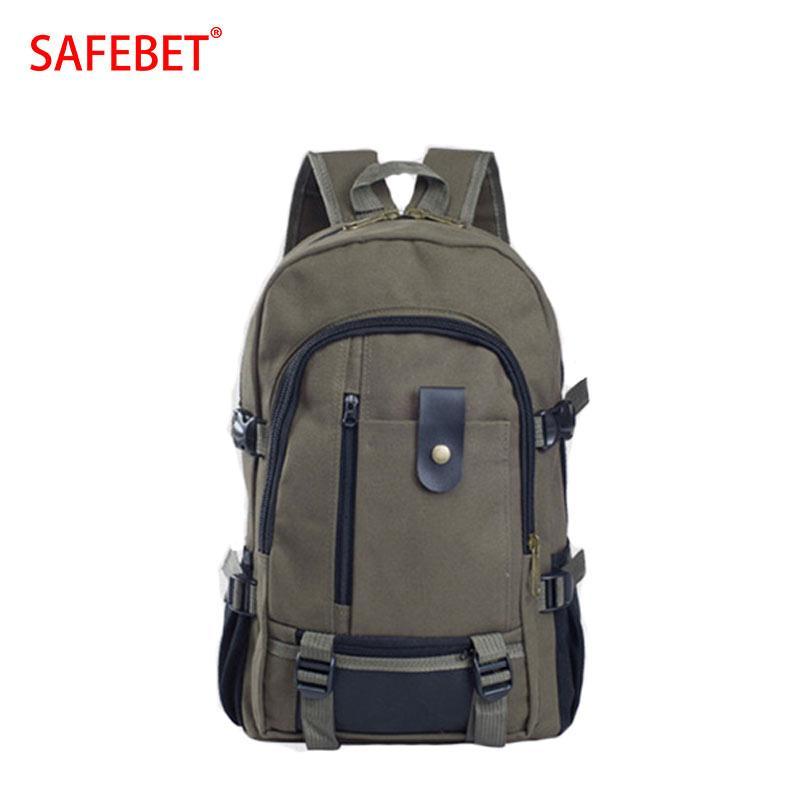 e84af4fe6fc6 SAFEBET Brand Backpack New Fashion Shoulder Strap Zipper Solid Casual Bag  Male School Bag Canvas Bag Designer Backpacks For Men Best Backpacks Girls  ...