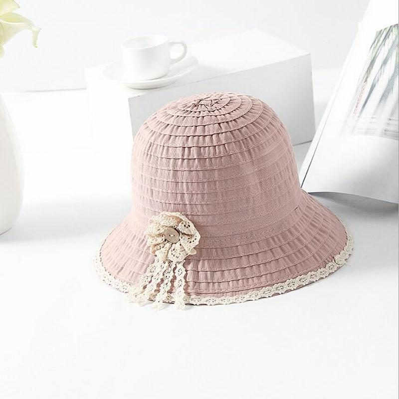 Bucket Hat Real Women Bob 2018 New Flower Lace Ladies Summer Cloth Hat  Korean Version Of The Fisherman s Take Ventilator Basin Flat Bill Hats  Beach Hat From ... 6209b5a4a9b