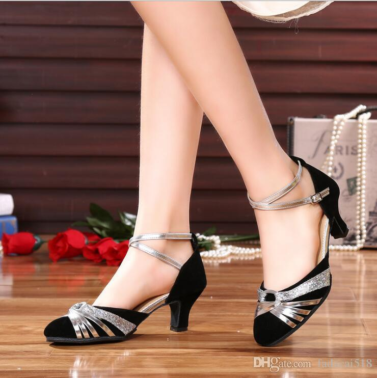 b07345698 Women S Latin Dance Shoes Female High Heeled Breathable Buckle Soft ...