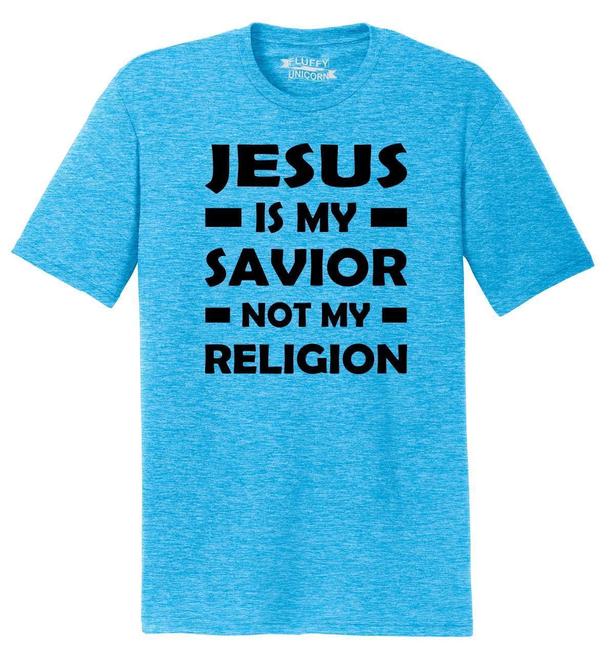 2e28725bd767f7 Großhandel Jesus Der Männer Ist Mein Retter Nicht Mein Religions  Christliches Religiöses Gott Gebets Hemd Lustiges Freies Verschiffen  Unisexbeiläufiges T ...