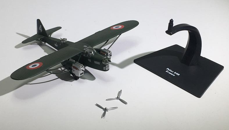 IXO France World War II Alloy Bomber Model 1:144 Porters Potez540 Plastic  Ornaments Toy Collection Gift Free Shipping