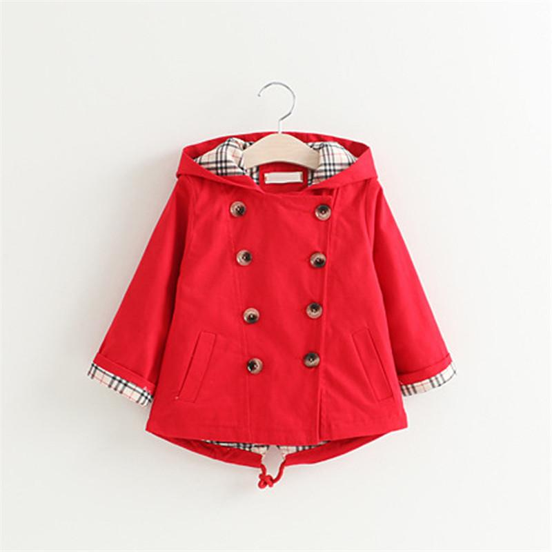 4ae71e85100 Children's cute jackets girl's cartoon coats outerwear solid Korean style  clothes for 3-8 years kids
