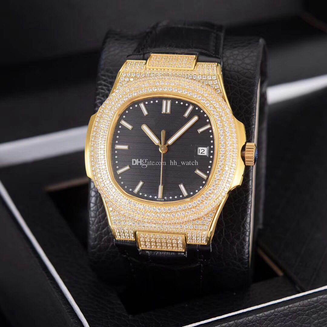 fb483120aa9 Compre Top Marca De Luxo Parrot Diamante 2813 Movimento Automático 40mm  Relógio Masculino Pulseira De Couro 18 K Ouro Ouro Dupla Face Espelho De  Safira De ...