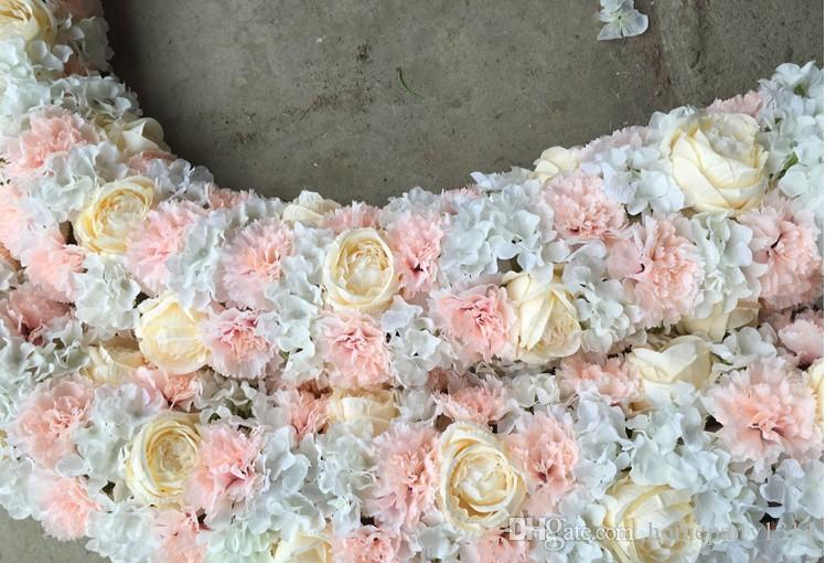 Wedding FlowerTable Centerpieces Flowers Decoration Home Hotel Party Stage Road Lead Arch Decor Rose Hydrangea Flower wall backdrops