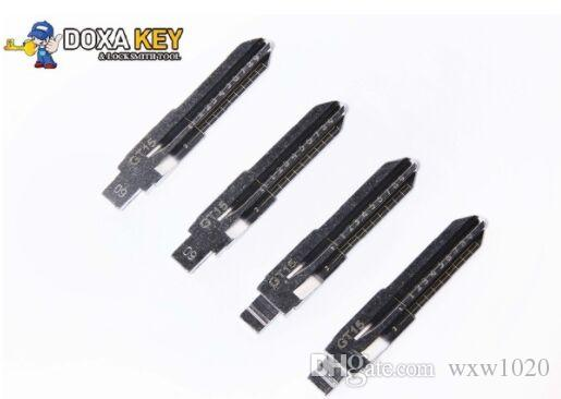 10pcs/lot GT15 Engraved Line Key Blade For Fiat Palio Ferrari Scale Shearing Teeth Cutting